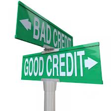 street sign with streets named Bad Credit and Good Credit