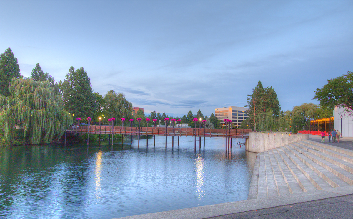 footbridge in Spokane's Riverfront Park