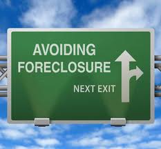 road sign that says avoiding foreclosure