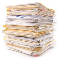 stack of escrow files